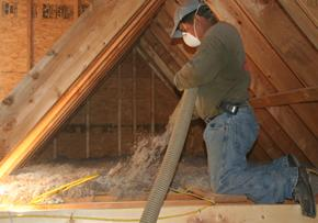 Applegate Bora-Spray Stabilized Cellulose Insulation - Attic application