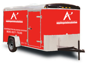 The CV-70 cellulose insulation trailer for sale from Applegate Insulation