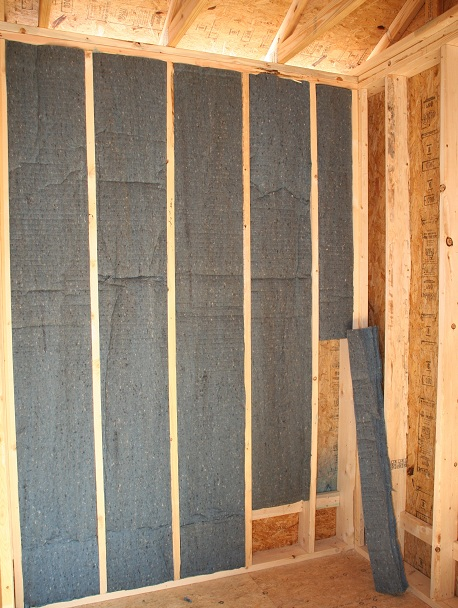 Mr. Insulate Cotton Armor installed in wall cavities.