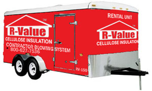 The RV-150 Rental Cellulose Insulation Trailer from Applegate