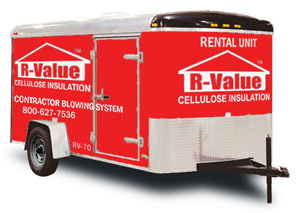 The RV-70 Rental Cellulose Insulation Trailer from Applegate